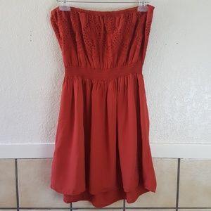Forever 21 Dresses - Forever 21 Plus strapless burnt orange dress Ox